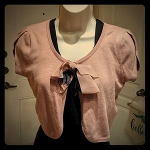 2 Shrug Sweaters for the price of 1! Black/Blush